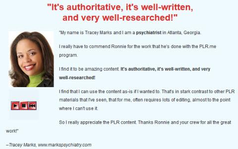 PLR.me Review - Testimonial 2